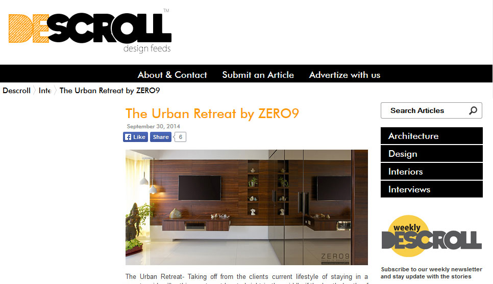 Descroll 2014 -  The Urban Retreat