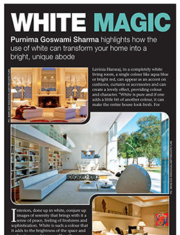 Times Of India- LUXE LIVING SEP 2013 (WHITE MAGIC)