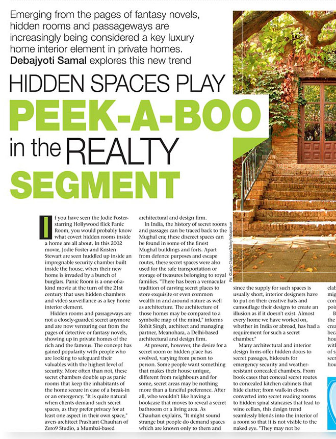 Times Of India- LUXE LIVING SEP 2013 (HIDDEN SPACES)