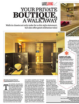 Times Of India- LUXE LIVING AUG 2015